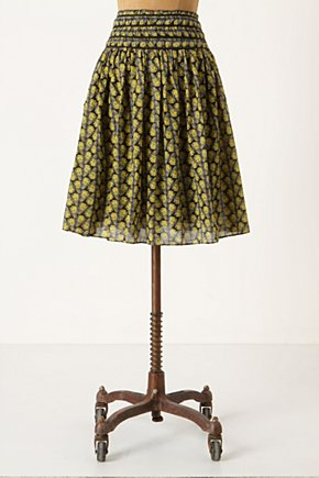 Monarch Skirt - Anthropologie.com :  fluttery butterfly yellow side pockets