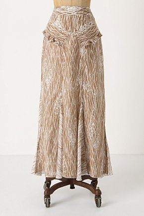 Gamboling Maxi Skirt - Anthropologie.com :  patterned neutral ruffle cotton blend