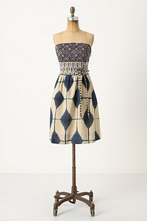 Magellan Dress - Anthropologie.com :  patterned tie frock abstract
