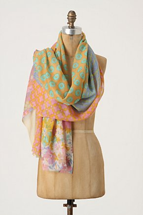 Garden Splice Scarf - Anthropologie.com :  mixed prints wool blend floral print silk blend