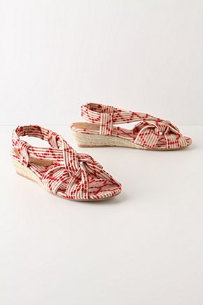 Racing Red Sandals - Anthropologie.com :  sandal strawberry twisted speckled