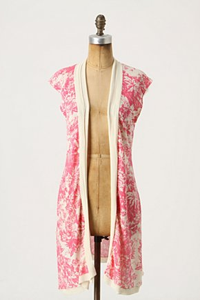Handkerchief Vest - Anthropologie.com :  swingy open front watermelon scarf print