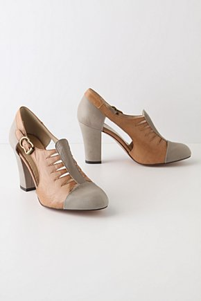 Derby Heels - Anthropologie.com :  neutral leather oxfords menswear inspired