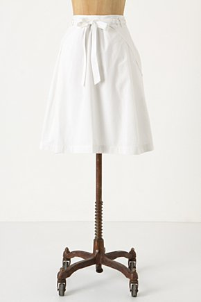 Plait & Pleat Skirt - Anthropologie.com :  braided sash poplin side pockets