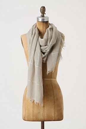 Gleaming Intersection Scarf - Anthropologie.com :  wool shimmery scarf ivory