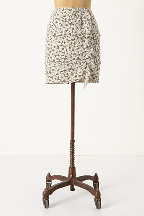 Silk Flounce Skirt - Anthropologie.com