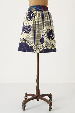 Nyanza Skirt - Anthropologie.com :  side pockets flowers skirt
