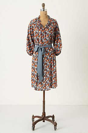 Plains Ranger Shirtdress - Anthropologie.com :  blue orange safari inspired white