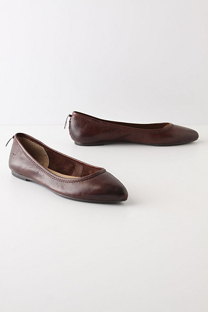 Guepiere Flats - Anthropologie.com :  leather skimmers brown lace up