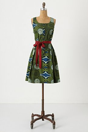 Muhabura Tank Dress - Anthropologie.com :  button front tribal geometric sash