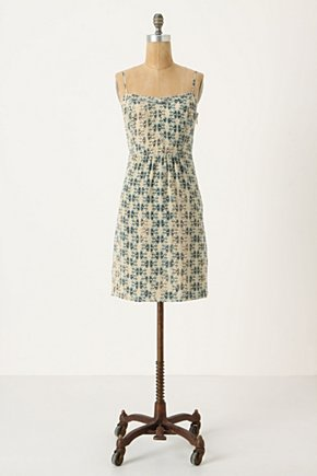 Sangatte Slip Dress - Anthropologie.com :  patterned silk navy aqua
