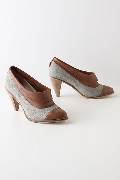 Capped & Cuffed Booties - Anthropologie.com :  leather wooly menswear inspired felt