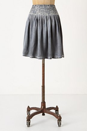 Squall Line Skirt - Anthropologie.com :  silk stitching charmeuse gray
