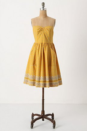 Bright Bandana Mini Dress - Anthropologie.com :  mini dress scarf print gold empire waist