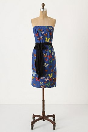 Butterfly Net Dress - Anthropologie.com :  blue shimmery nature inspired sash