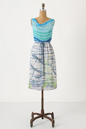 Darting Dragonfly Dress - Anthropologie.com :  nature inspired dragonfly aqua summer dress