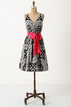 Quechua Dress - Anthropologie.com :  frock surplice neckline side pockets tulle