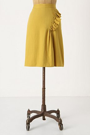 Golden Rays Skirt - Anthropologie.com :  ruffle twill buttoned pleats