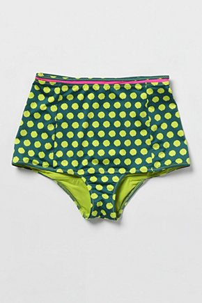 Pop-Of-Dots Bikini Bottoms - Anthropologie.com :  high waist polka dots neon bikini