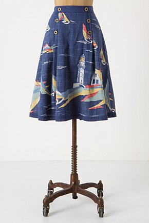 Sailboat Skirt - Anthropologie.com :  whimsical voile nautical faded
