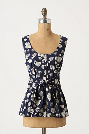 She Sells Tank - Anthropologie.com :  marine inspired button closure belted tank top