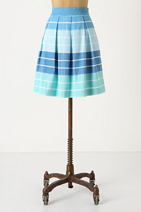 Lido Light Skirt - Anthropologie.com :  blue summery pique pleated