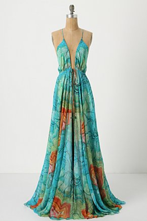 Grand Coast Cover-Up - Anthropologie.com :  tie closure marine inspired silk abstract