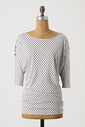 Atomical Tee - Anthropologie.com :  blue and white jersey polka dots stripes