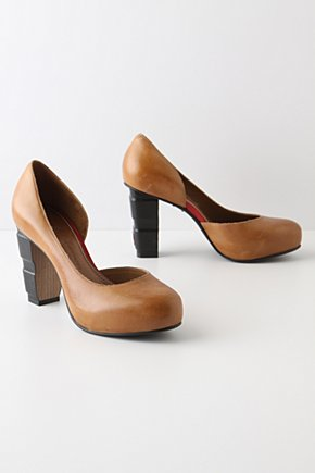 Bookbinder Heels - Anthropologie.com :  pumps preppy leather brown