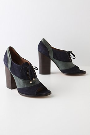 Midnight Meeting Oxfords - Anthropologie.com :  suede leather navy oxfords