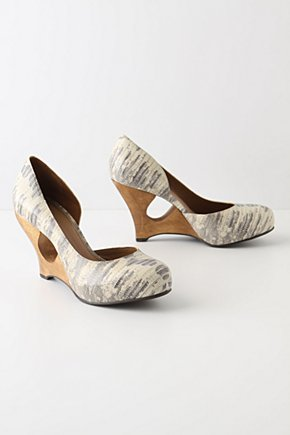 Chiseled Wedges - Anthropologie.com :  artistic wedges leather wood