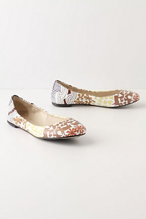 Printed Plie Flats - Anthropologie.com :  the 70s leather skimmers beige