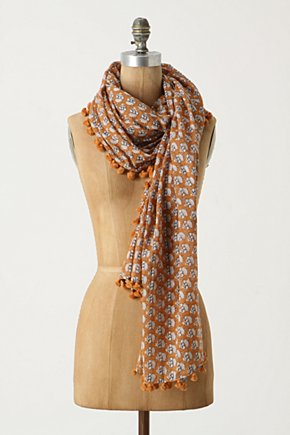 Anthropologie Fenced Garden Scarf-any color!