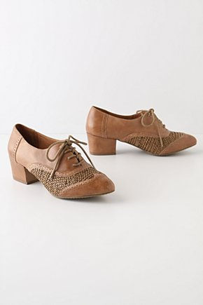 Gamut Spectators - Anthropologie.com :  neutral leather oxfords textured
