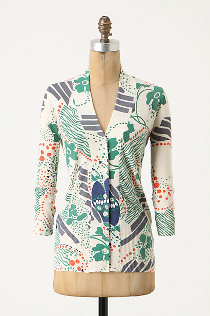 Luzula Cardigan - Anthropologie.com :  button front patterned colorful cardigan