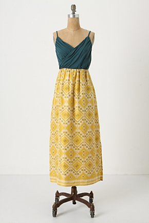 Cuernavaca Maxi - Anthropologie.com :  flowy maxi yellow adjustable