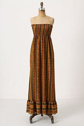 Macias Maxi Dress - Anthropologie.com :  smocked silk ruffles maxi dress