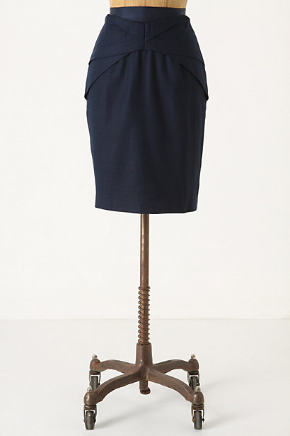 Yumi Skirt - Anthropologie.com :  cotton basket weave origami linen