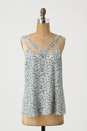 Strappy Crosscut Tank - Anthropologie.com :  silk criss cross tank top strappy