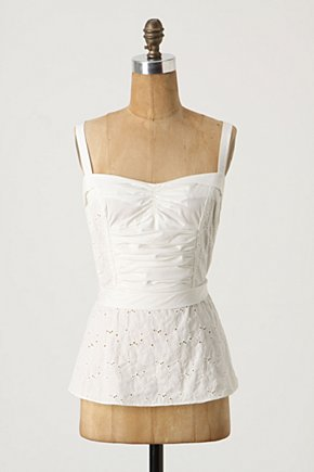 Frannie Camisole - Anthropologie.com :  camisole embroidered flouncy corset inspired