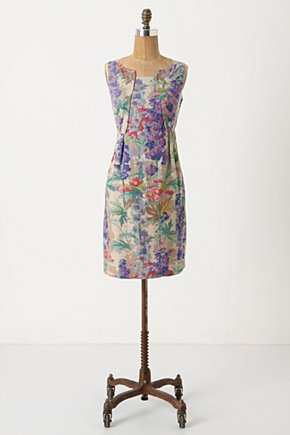 Hyacinth Afternoon Shift - Anthropologie.com :  shift dress bouquet print panels purple