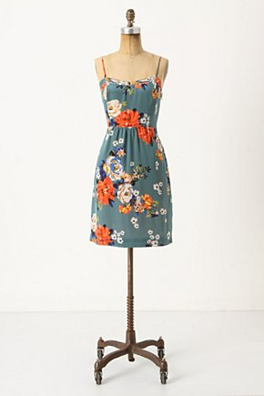 Verdant Slip Dress - Anthropologie.com :  smocked bouquet print spaghetti straps slip dress