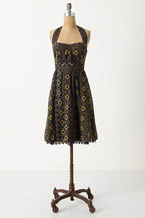 Rhythmic Repetition Dress - Anthropologie.com :  patterned halter dress sunny geometric