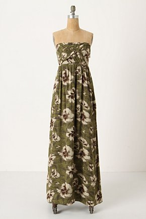Cultivated Maxi Dress  - Anthropologie.com :  flowy floral print maxi dress green