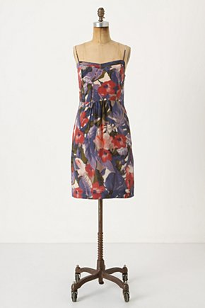 Reflecting Pool Dress - Anthropologie.com :  floral silk purple slip dress