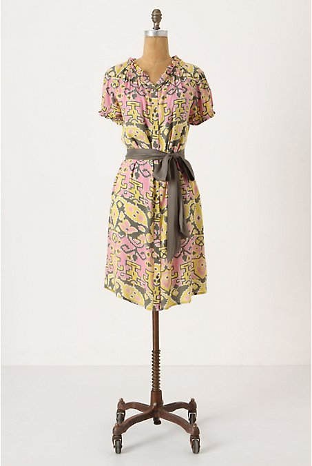 Sprightly Shirtdress - Anthropologie.com :  short sleeves spring jersey buttons