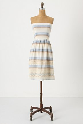 Sky Stories Dress - Anthropologie.com :  sundress strapless stripes muted