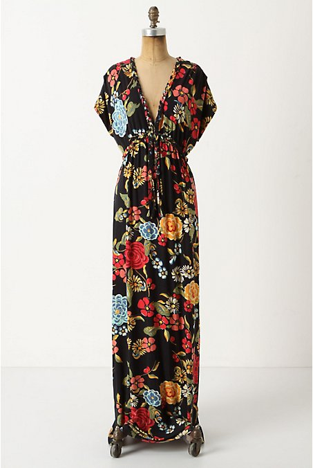 Frida Maxi Dress - Anthropologie.com :  floral black pattern print