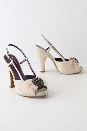 Lillian Slingbacks - Anthropologie.com :  luxe buckle flounce tulle