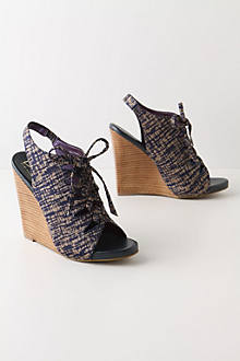 Sketched Lace-Up Wedges
